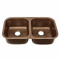 Sinkology Sk205-32ac Kadinsky Undermount Handmade Pure Solid Double Bowl Kitchen on sale
