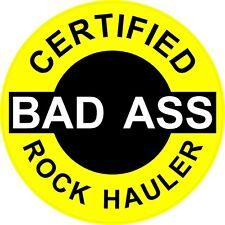 WHITE ON RED CERTIFIED BAD A$$ COAL HAULER STICKER LOT OF 3