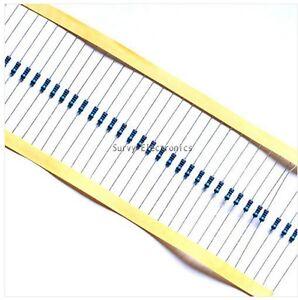 100pcs-1-4w-Watt-10K-ohm-10Kohm-Metal-Film-Resistor-0-25W-100000R-1