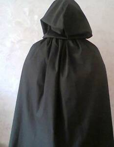BLACK-COTTON-CAPE-WITH-HOOD-FOR-ADULTS-IN-5-LENGTHS-FANCYDRESS-HALLOWEENWIZARD