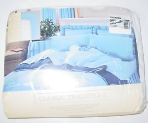 Vintage-Classic-Traditions-JC-Penney-White-Fitted-Twin-Size-Sheet-Percale-USA