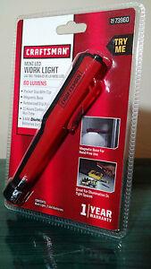 Craftsman Mini Pocket Daylight Led Work Light Flashlight W
