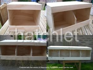 chicken nest boxes - single, double, triple or Quad size  Coop Nest box Chickens