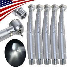 5pcs Dental E Generator High Speed Led Handpiece Push Button Large Torque 2h