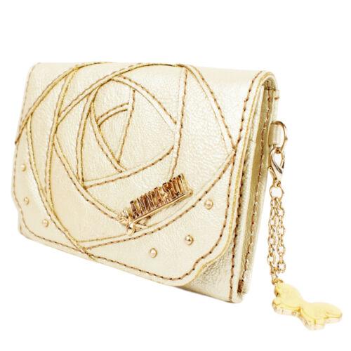 Wallet Metallic Leather 100 Anna Card Gold Sui Rose Authentic Case wqcOHz7cZ
