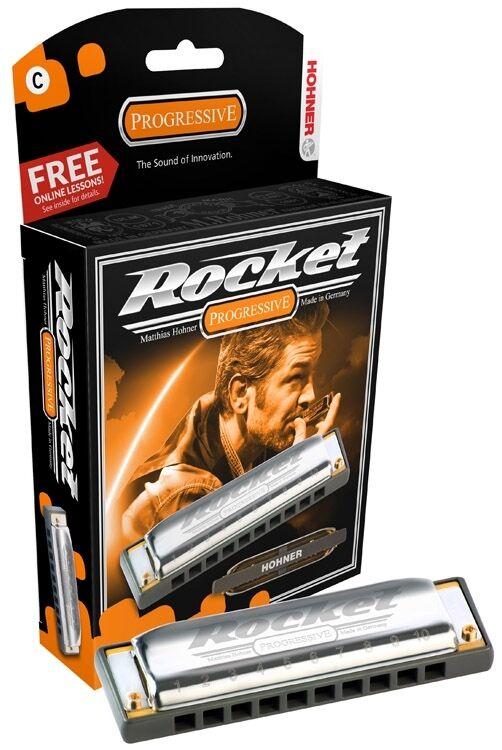 Hohner Rakete Mundharmonika - Schlüssel von B, Brandneu in Verpackung