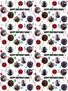 Image Is Loading Deadpool Personalised Birthday Gift Wrapping Paper ADD NAME
