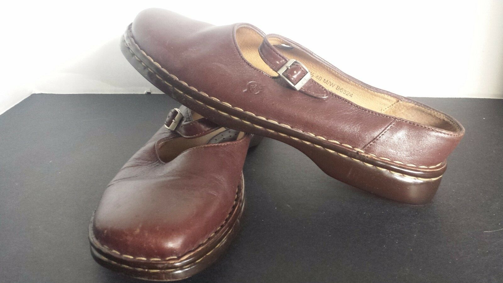 Born marron Leather Comfort Mary Jane chaussures Taille 8.5 US   40 EU
