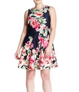 Details about VINCE CAMUTO® Plus Size 24W Navy Floral Scuba Dress NWT $158