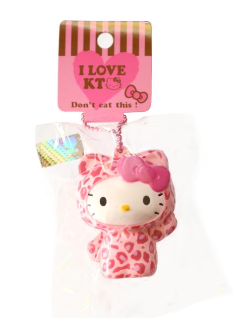 Hello Kitty Pink Leopard KAWAII RARE Squishy Sanrio Keychain Cat ... f0e78d340cb4