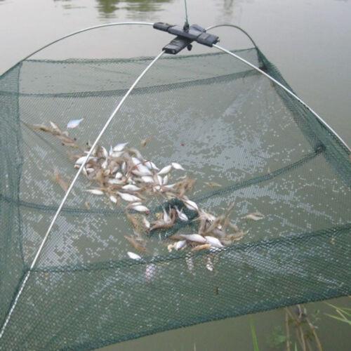 Practical Fishing Foldable Mesh Baits Trap Umbrella Cast Dip Net Crab Shrimp Fad