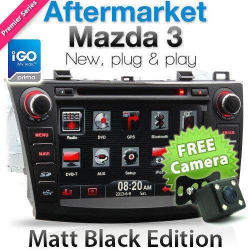 "8"" Mazda 3 Car DVD Player GPS Sat Nav iGO Primo BL Head Unit Stereo Radio CD OZ"