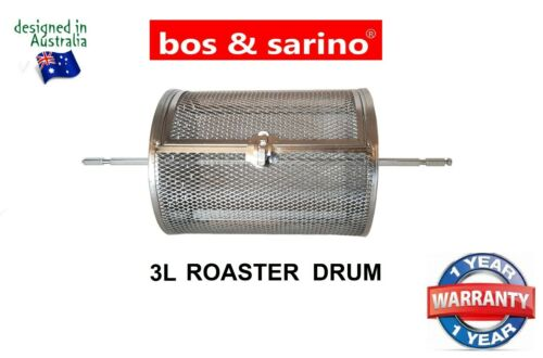 BOS /&SARINO Coffee Bean Peanut BBQ Jerky Chips Grill Rotisserie 3L Roasting Cage