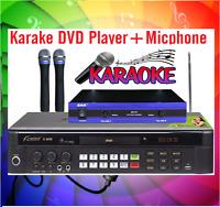 20000 English Tagalog Songs Midi Karaoke Dvd Player + Vhf Wireless Microphone