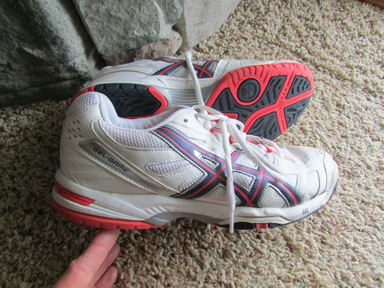 ASICS GEL GAME RUNNING SHOES  SNEAKERS SHOES WOMENS 9 E356Y REE SHIP