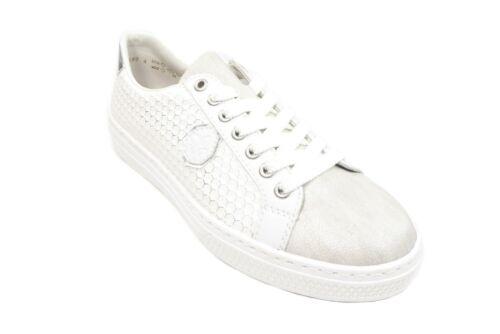 Rieker Damenhalbschuhe Sneaker zum Schnüren in Weiss L59B4-80 memosoft