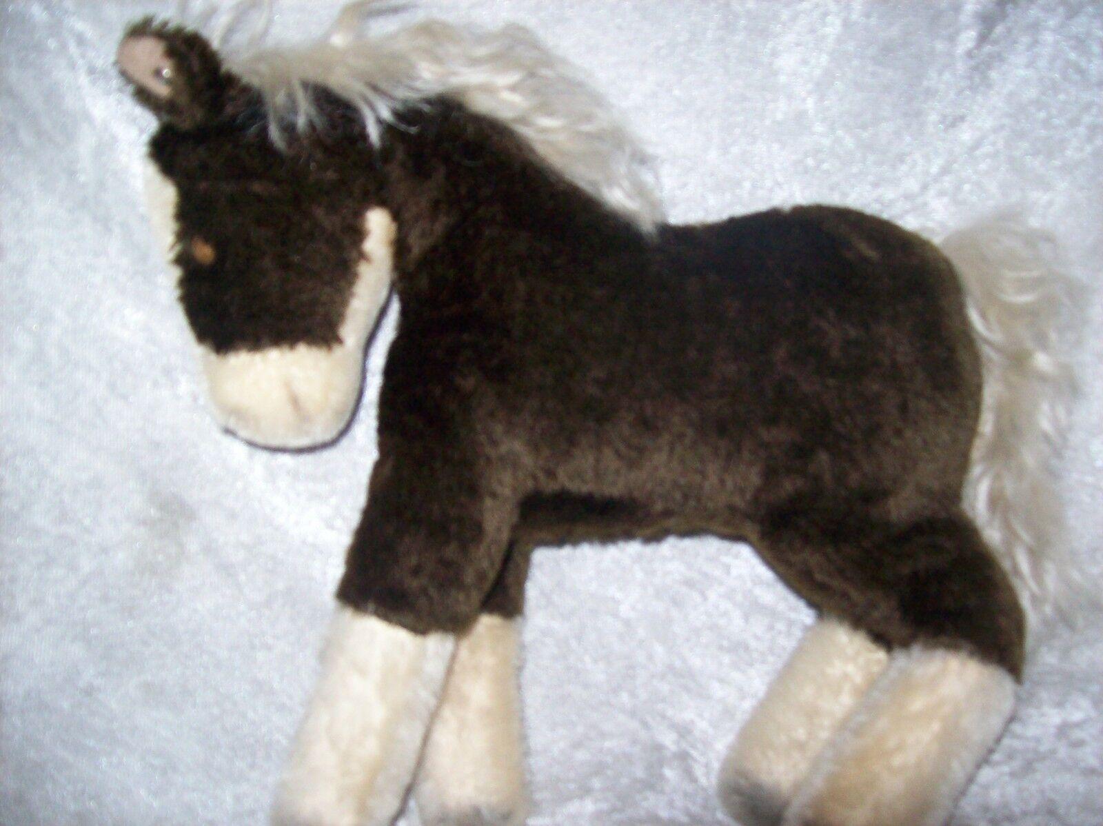 Steiff Pferd 70ziger Jahre braune Stute mit Knopf im Ohr ca.23.cm