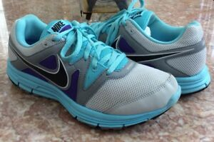 a114f2ced0a7 NIKE Lunarfly+ 3 Pure Platinum Gray Blue Purple Running Shoes Size 8 ...