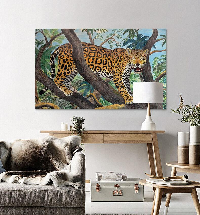 3D Leopard Baum 2767 Fototapeten Wandbild BildTapete Familie AJSTORE DE
