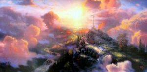 Thomas-Kinkade-The-Cross-12x24-S-N-PANORAMIC-Limited-Edition-Jesus-Lithograph