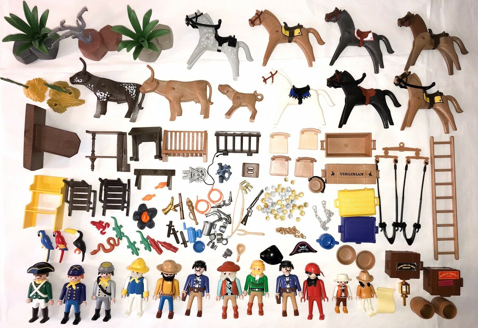 Playmobil WESTERN    PIRATE  PARTS  FIGURES  ACCESSORIES  FURNITURE  ANIMALS eaab16