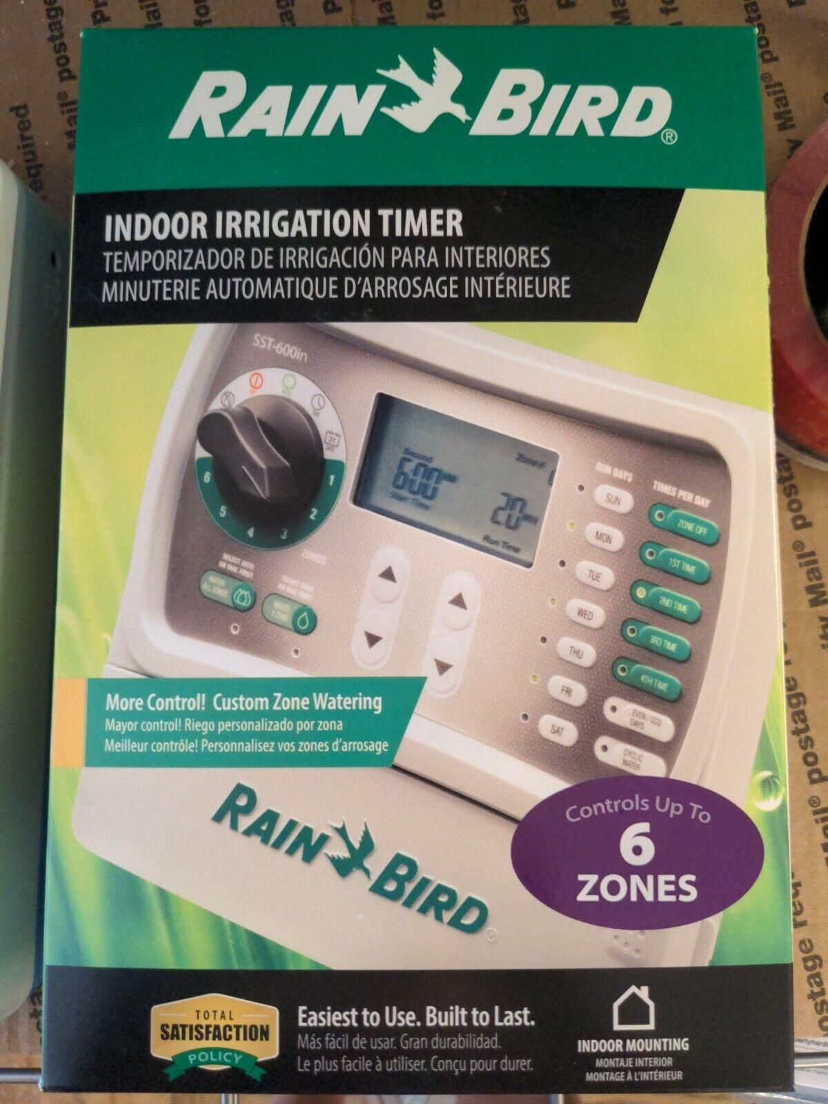 *NEW* RAINBIRD INDOOR IRRIGATION TIMER (6-ZONE) MODEL: SST-600I (CP1000613)