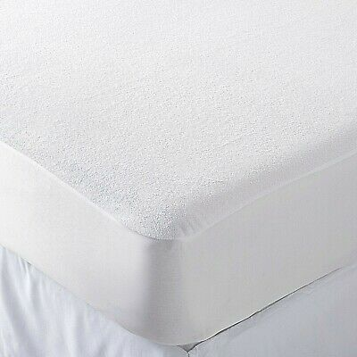 Waterproof Terry  Mattress Protector Non Noisy Fully Fitted Extra Deep