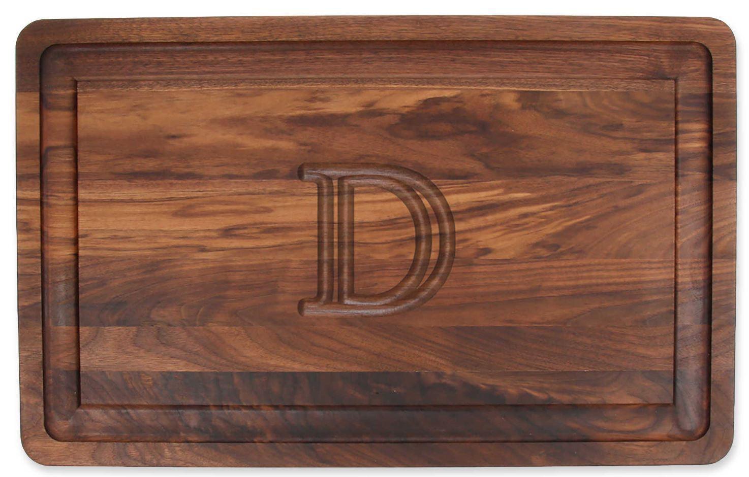 D voitureving Board riche solide en bois de noyer, coupe hacher la viande X légumes, Grand