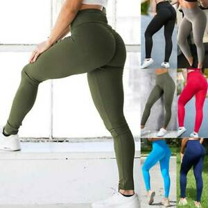 Womens Tie Dye Ruched High Waist Yoga Pants Stretch Workout Gym Fitness Leggings