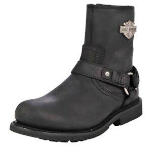 Harley-Davidson-Men-039-s-Bar-amp-Shield-Scout-Black-Leather-Motorcycle-Boots-D95262