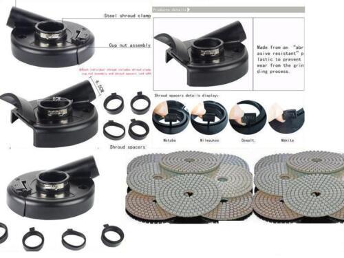 "7/"" Convertible Dust Shroud 12 Polishing Pad metabo dewalt makita bosch grinder"