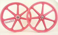 Skyway Bmx 24 Tuff Wheels Cruiser Mags In Pink Sealed Bearing Hubs Made In Usa