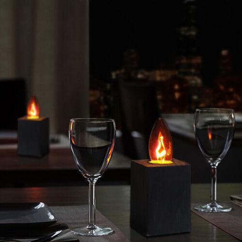 E27 E14 LED brennen des Lichts Flimmern Flamme Lampe Feuer Party Dekor Lampe