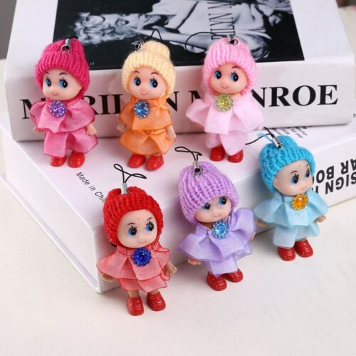 5//4Pcs Kids Toys Soft Interactive Baby Dolls Toy Mini Pendant Hat Clown Doll New