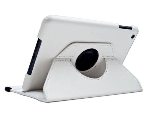 Funda carcasa giratoria piel cuero para Apple Ipad Air BLANCA BLANCO