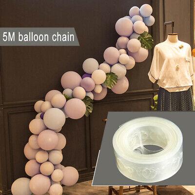 5m Luftballon Verbindet Kette Bogen Streifen Klebeband für Hochzeit-Geburtstag