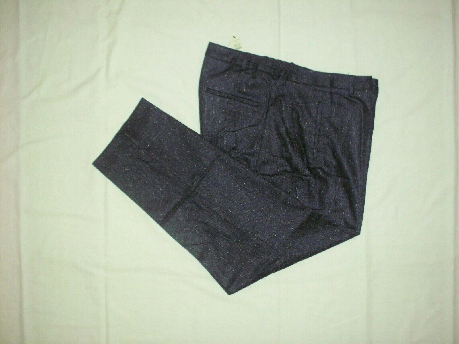 NEW  149 TALBOTS Hampshire Indigo Blau Italian Donegal Tweed Ankle Pants Sz 16W