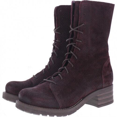 Brako   Modell  Military Tina   Burdeos Weinrot Leder   Stiefel   Art  8470   Da