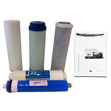Juego Filtros Universal Osmosis Inversa + Membrana  + Manual mante/desinfección