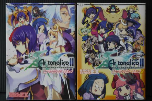 JAPAN Ar tonelico II Melody of Metafalica 4koma Anthology Comic 1~2 Complete