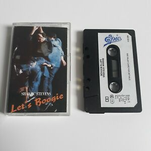 SHAKIN-039-STEVENS-LET-039-S-BOOGIE-CASSETTE-TAPE-1987-PAPER-LABEL-EPIC-CBS-UK