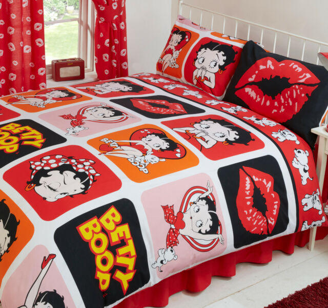 Beau BETTY BOOP PICTURE PERFECT HEARTS LIPS POLKA DOT DOG RED BEDDING OR CURTAINS