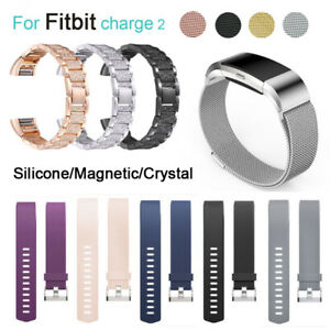 For-Fitbit-Charge-2-Watch-Strap-Wrist-Band-Stainless-Steel-Crystal-Classic-UK