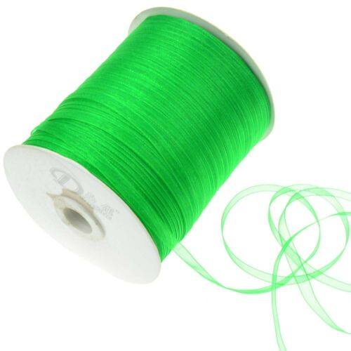500 Yards Sheer Woven Edge Organza Ribbon Full Roll 6mm Wide Bows Crafts DIY