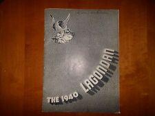 1940 WINFIELD HIGH SCHOOL Kansas KS LAGONDAN Yearbook BOB BRANNUM Celtics  NBA