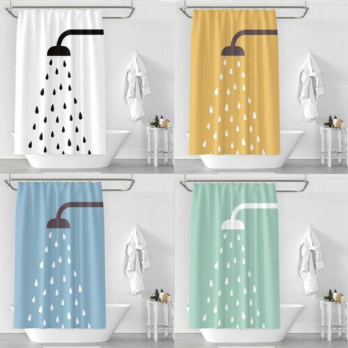 Shower Curtain Nozzle 3d Print Waterproof Thickening Polyester Bathroom Toilet