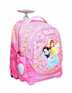 Details about Princess Disney I Trolley Rolling School Bag Backpack Girls