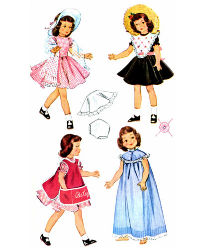 """57 Outfits to sew for Toni or 14/"""" Dolls  Vintage Rep LOT of 11 Patterns on CD"""