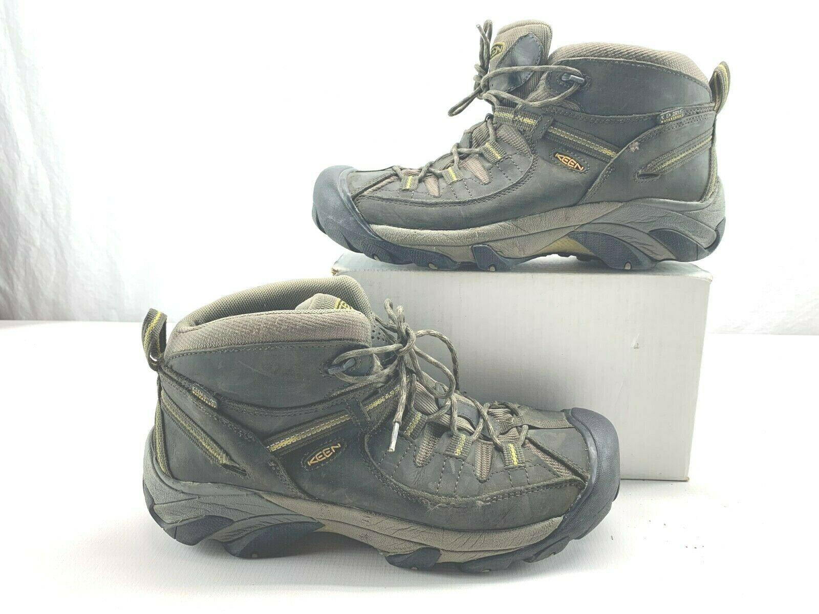 KEEN Men's Targhee II Mid Wide WP Hiking Boots 1013124 Black Olive SIZE 12