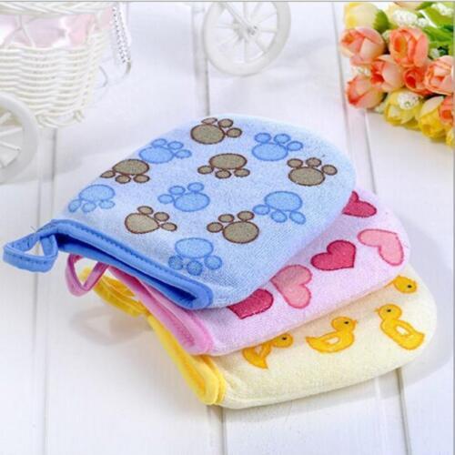 T3 Soft Baby Boy Girls Clean Infant Bath Gloves Mitt Wash Cloth Towel Cartoon